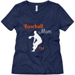 Baseball Rhinestone Mom