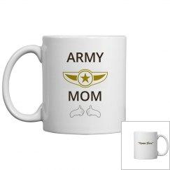 Personalize army mom coffee mug