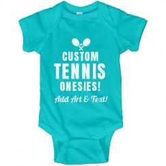 Personalized Baby Tennis Onesies