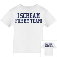 I Scream for my Team! Baby Spirit Booster