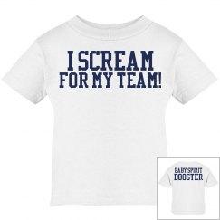 I Scream for my Team! Baby Spirit Booster