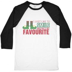 Funny Christmas Shirt I Just Like To Smile