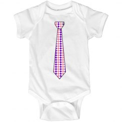 Pink & Purple Long Tie