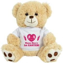 Custom First Easter Gift Bear