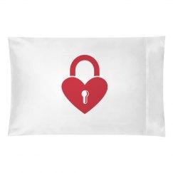 lock heart pillowcase