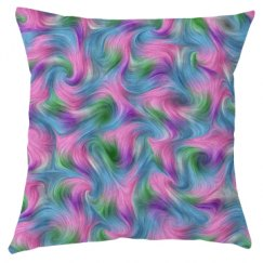 Unicorn Fur Throw Pillow