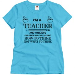 You're a teacher and you're shaping the future