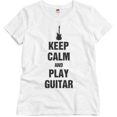 Keep calm play guitar