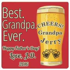 Cheers Best Grandpa Ever Coaster