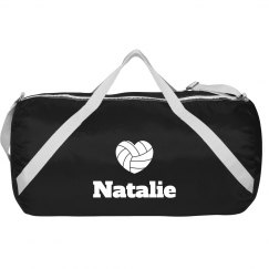 Natalie's Volleyball Bag With Custom Name