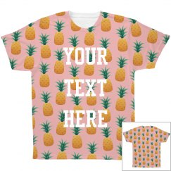 Add Custom Text All Over Print