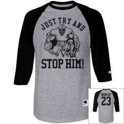 Try and Stop Him Custom Football Mom Shirt