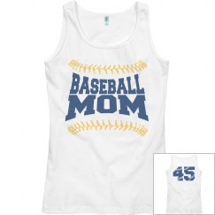 Custom Baseball Mom Tank Top With Numbers