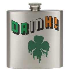 Irish Shamrock Drink Flask