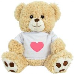 Heavy Black Heart Medium Plush Teddy Bear