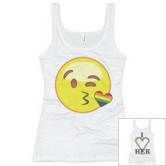 Emoji Rainbow Kisses