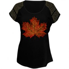 Geometric Fall Leaf