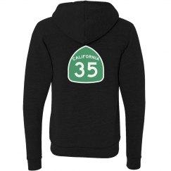 CA 35 Hoodie green & white back