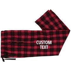 Custom Text Matching Pajama Bottoms