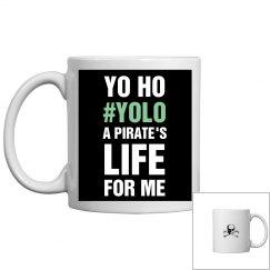 Yo Ho YOLO Pirate's Life Skull
