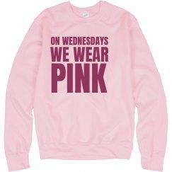 Wednesdays Wear Pink Crew