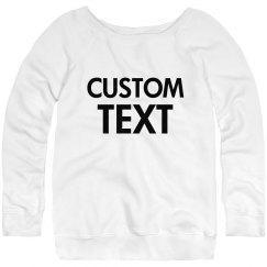 Customizable Slouchy Sweater