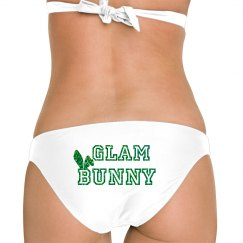 Green Glitter Bunny Ear Bottom