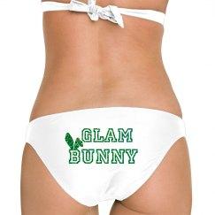 Green Glitter Bunny Ear Bottom