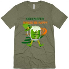 Green beer makes me happy