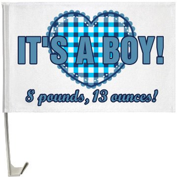Baby Announcement Flag