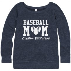 Baseball Heart Mom Rhinestones