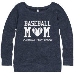Baseball Heart Mom Sweatshirt