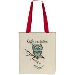 Ruffled feathers tote