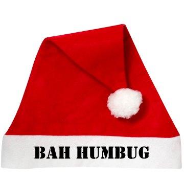 Bah Humbug Santa Hat