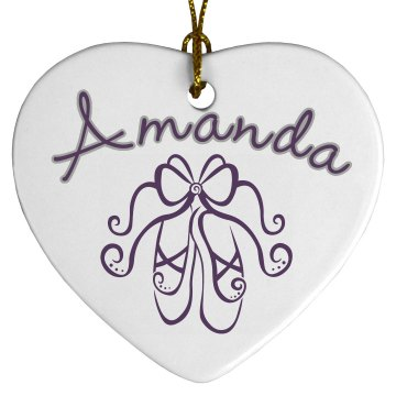 Ballet Name Ornament