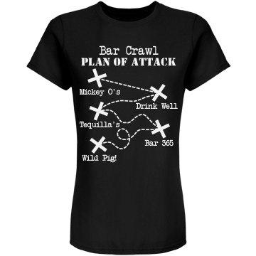 Bar Crawl Plan Of Attack