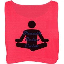 Yoga - Misses Oversize Crop Tank Top
