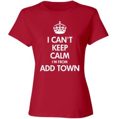 I can't keep calm, add town