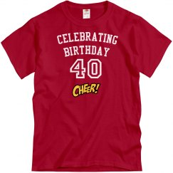 Celebrating 40 years old