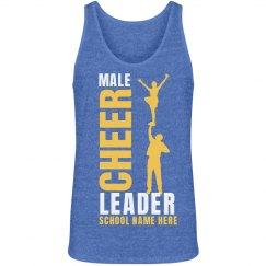 Male Cheerleader Pride School Colors Tank Top