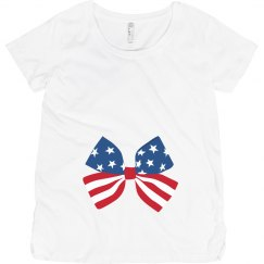 Cute 4th Of July Maternity Bow