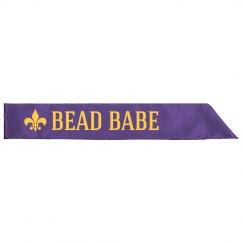 Mardi Gras Bead Babe