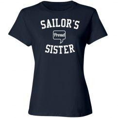 Proud sailor's sister