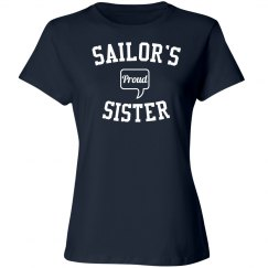 Proud sailor's sister