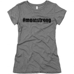 #MomStrong distressed tee