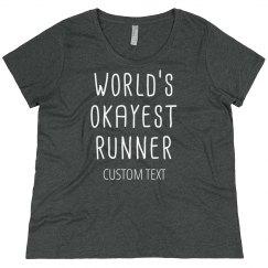 World's Okayest Runner Plus Tee