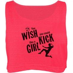 Wish kick girl shirt