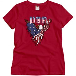 Patriotic American Eagle Tee
