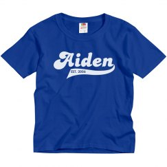 Aiden personalized shirt