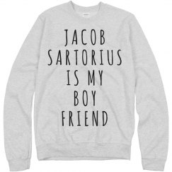 Jacob Sartorius Is My Boyfriend Sweater Text Art